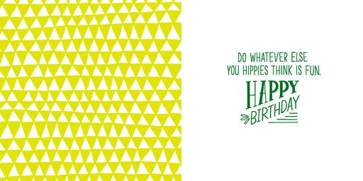 Bring Out Your Inner Hippie Birthday Card,