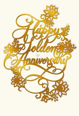 Golden Years 50th Anniversary Card