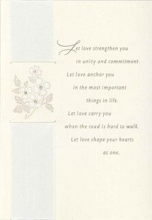 Love Is Your Guide Wedding Card,
