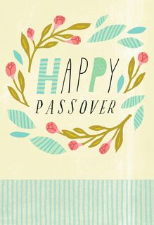 Our Legacy and Heritage Flower Wreath Passover Card,