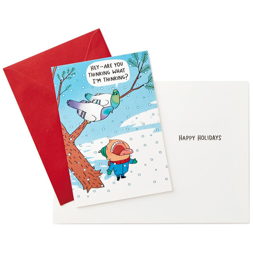 Naughty Birds Funny Christmas Cards, Box of 16 - Boxed Cards - Hallmark