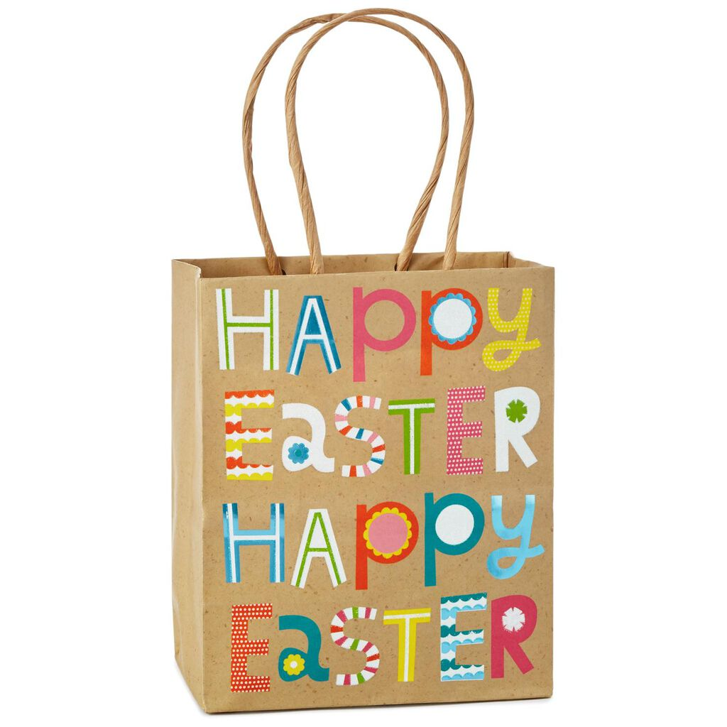 Happy easter kraft small gift bag 65 gift bags hallmark happy easter kraft small gift bag 65 negle Images