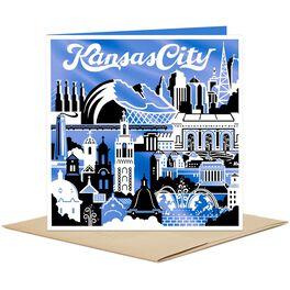 Kansas City Skyline and Icons Blank Card, , large