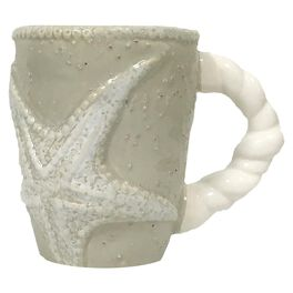 Mud Pie® Sand Nautilus Starfish Mug, 12 oz., , large