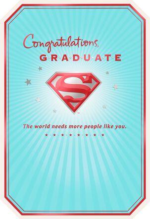 SUPERMAN™ S-shield Graduation Card