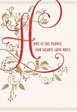 Home Is Where the Heart Is Christmas Card for Parents