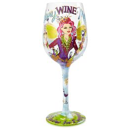 Lolita® Fairy Wine Mother Handpainted Wine Glass, 15 oz., , large