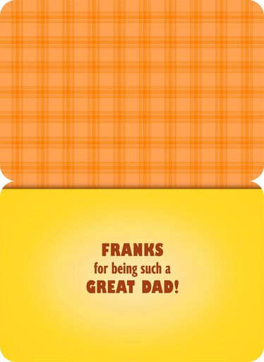Hot Dog Musical Father's Day Card,