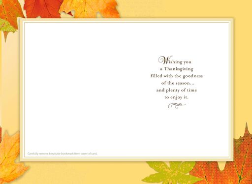 Thanks for Everyone and Everything Thanksgiving Card With Bookmark,