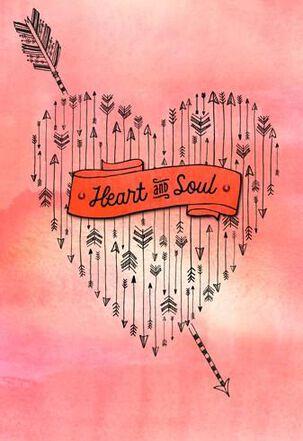 Arrow Through The Heart Valentine's Day Card