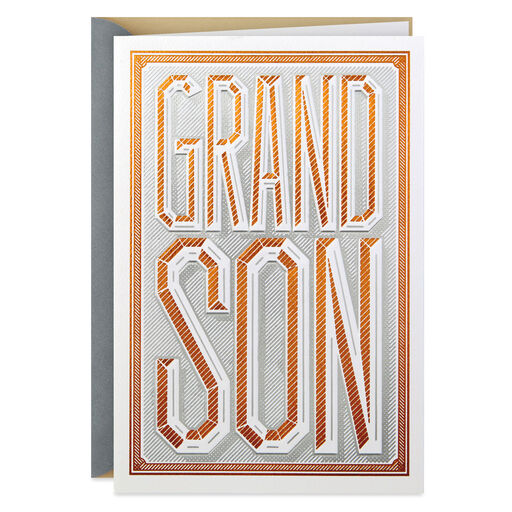 Bronze And Silver Fathers Day Card For Grandson