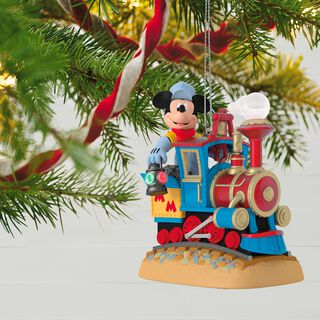 Disney Mickey's Magical Railroad Sound Ornament With Light and Motion,