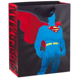 "SUPERMAN™ Silhouette Large Gift Bag, 13"", , large"