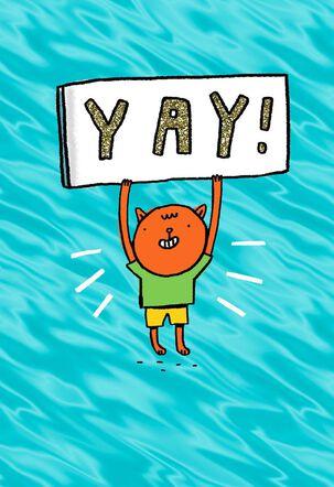 Hip, Hip, Hooray! Congratulations Card