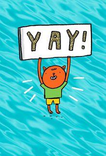 Hip, Hip, Hooray! Congratulations Card,