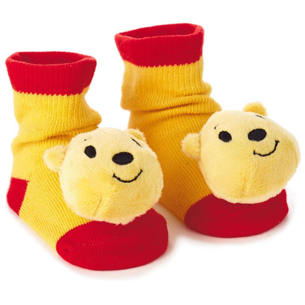 8f23803b4 Winnie the Pooh itty bittys® Baby Rattle Socks - Baby Clothes - Hallmark