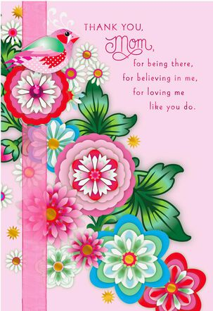 Jewel Blossoms Mother's Day Card
