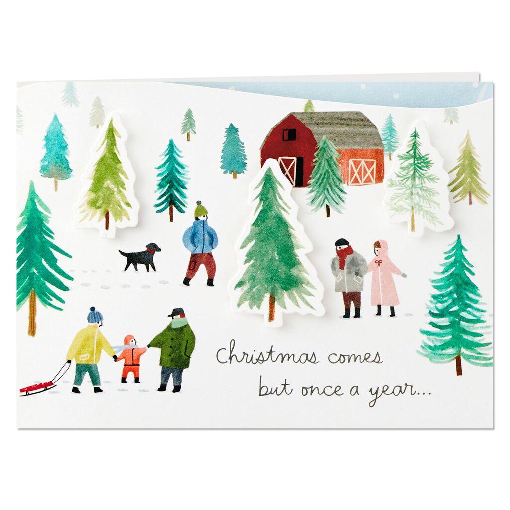 Christmas Tree Farm Hope It\'s Perfect Mini Pop Up Christmas Card ...