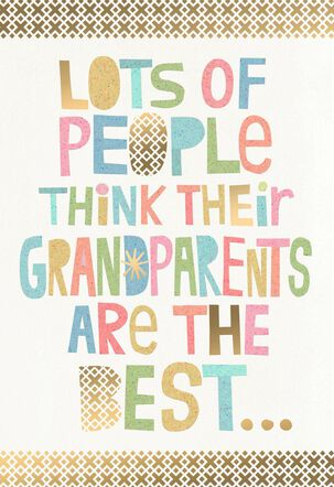 You're the Best Grandparents Day Card
