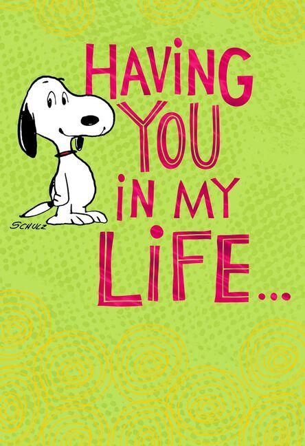 Peanuts Snoopy Happy In My Dance Birthday Card