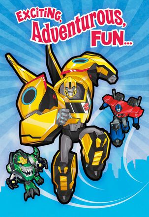 Transformers Exciting, Adventurous, Fun Birthday Card