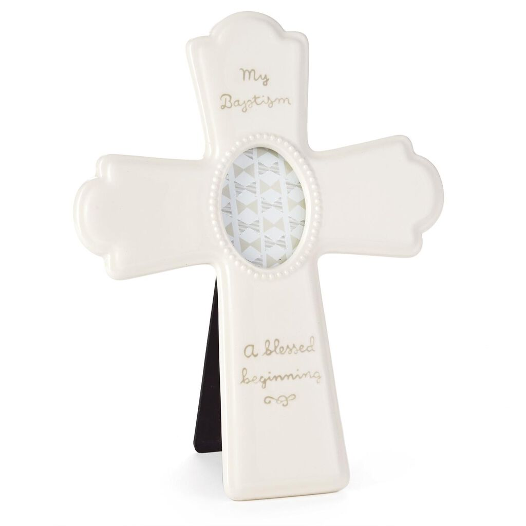 White Ceramic Baptism Picture Frame Cross - Picture Frames - Hallmark