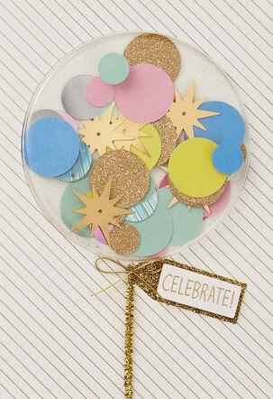 Confetti Balloon Birthday Card