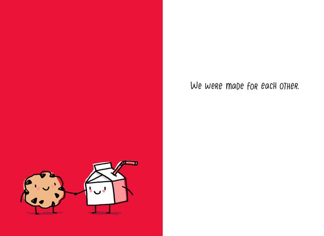 Milk And Cookie Funny Valentines Day