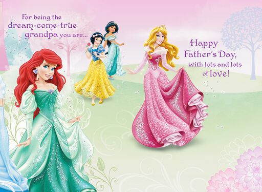 Disney Princesses Father's Day Card from Granddaughter,