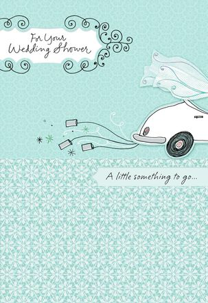Decorated Car for Your Bridal Shower Card