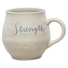 DaySpring Strength Stoneware Mug, 14 oz., , large