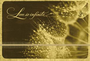 Love Is Infinite Sympathy Card for Loss of Spouse