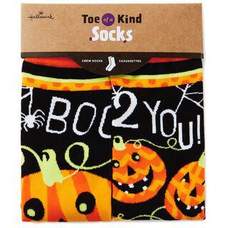 Jack-O'-Lantern Toe of a Kind Socks,