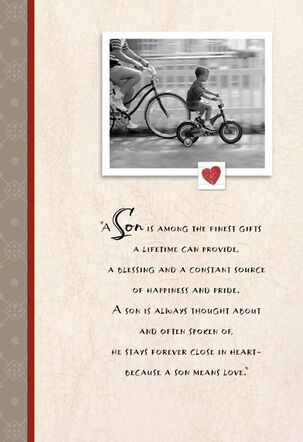 Bicycle Photos for Son Valentine's Day Card