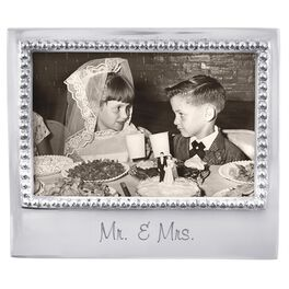 Mr. & Mrs. Silver Aluminum Photo Frame, 4x6, , large