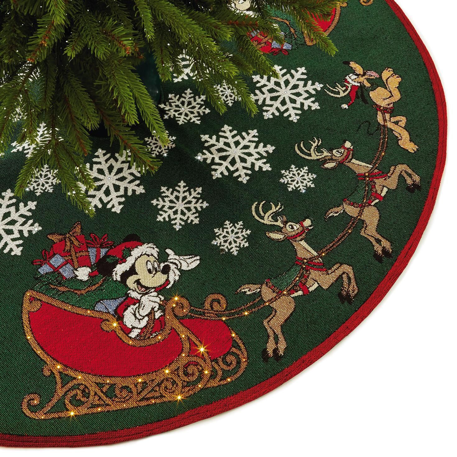 Tree Skirt With Light Mickey Mouse Oh, What Fun!