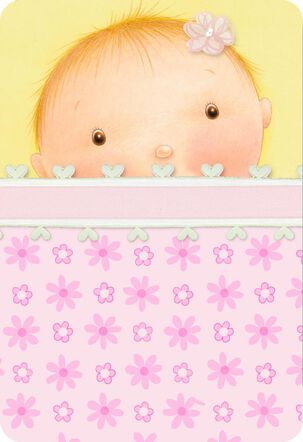 Under the Covers New Baby Girl Card