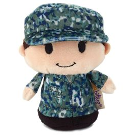 itty bittys® Blue Camo Girl Stuffed Animal, , large