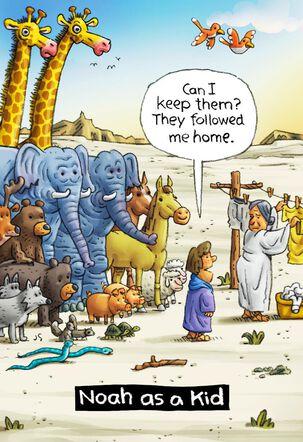 Young Noah's Ark Funny Card