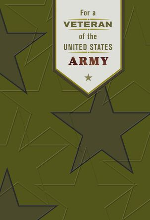 United States Army Veterans Day Card