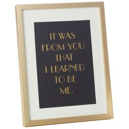 from you i learned framed print large