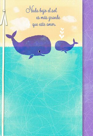 No Bigger Love Spanish-Language Baby Shower Card