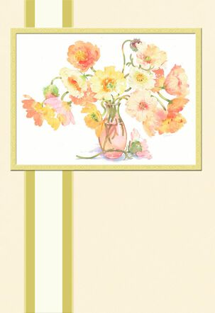 Flower Vase Religious Sympathy Card