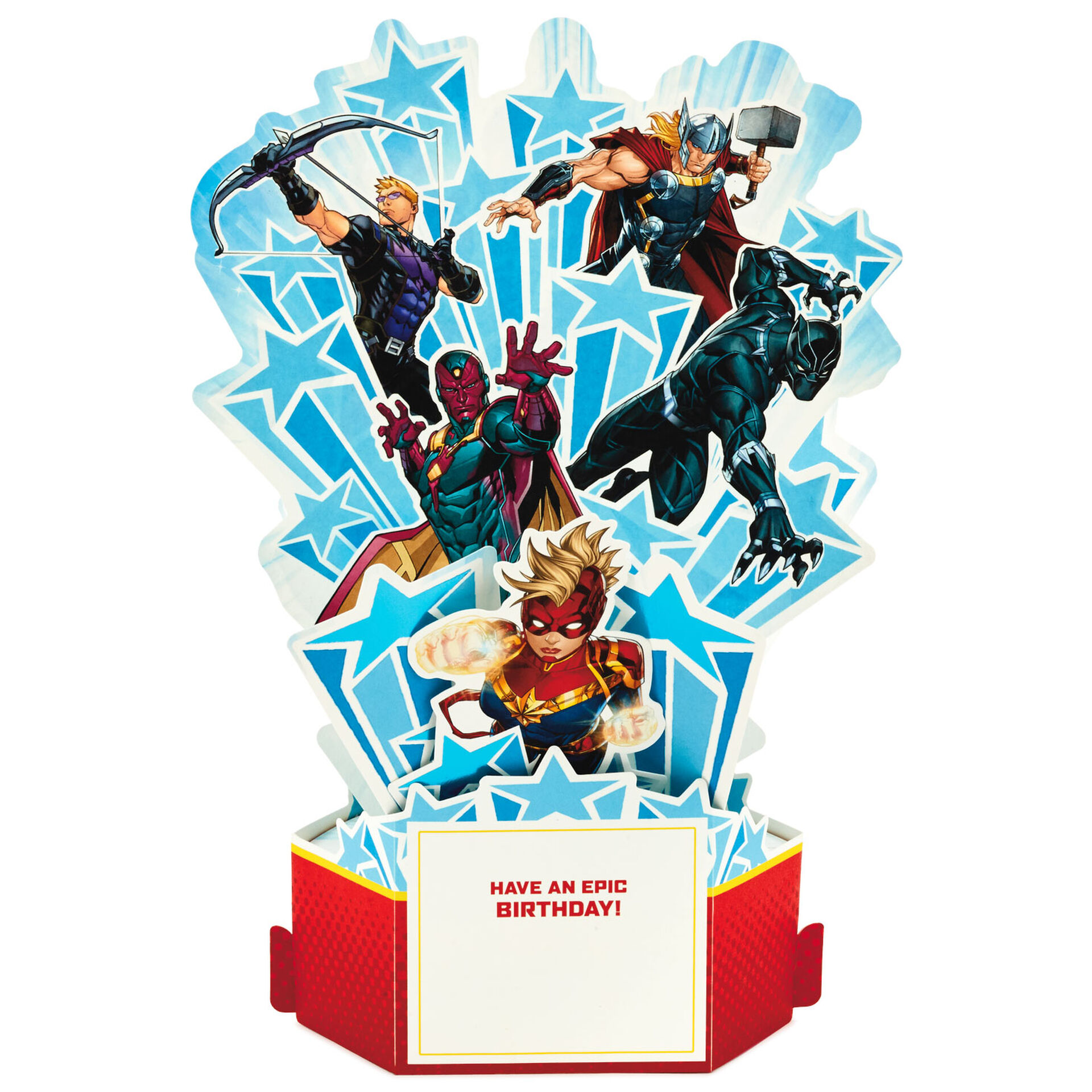 marvel avengers epic 3d popup birthday card  greeting