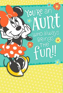 Minnie Mouse Mother's Day Card for Aunt,