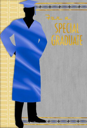 Masculine Silhouette Graduation Card