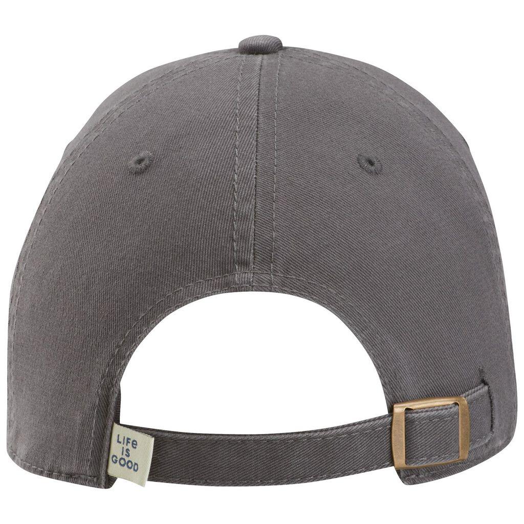 c2360fb6082d2 Life is Good Men s Papa Bear Patch Gray Baseball Cap - Scarves