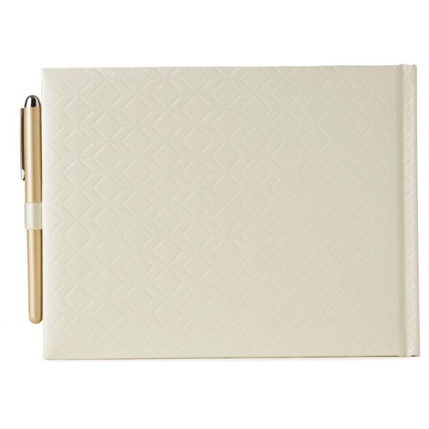 Geometric Wedding Guest Book And Pen Set