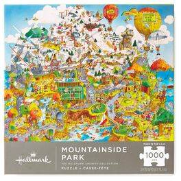 Mountainside Park City Illustration 1000-Piece Jigsaw Puzzle, , large