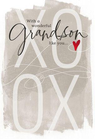 Happy Heart Grandson Valentine's Day Card